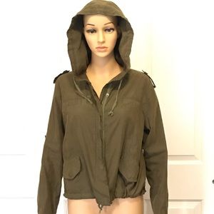 Brandy Melville Army Green Hailey Jacket One Size